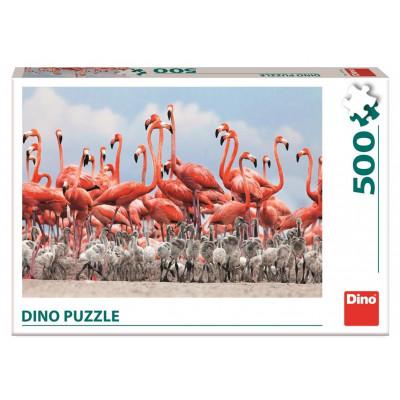 Dino Plameňáci puzzle 500 dílků