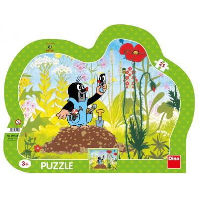 Dino Krtek a kalhotky kontura puzzle 25 dílků