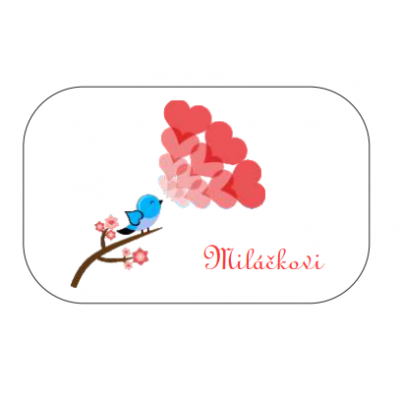 Dárková plechovka Miláčkovi - bonbóny 60 g