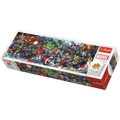 TREFL Panoramatické puzzle Svět Marvelu 1000 dílků