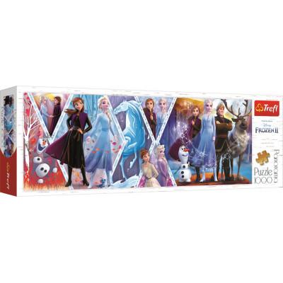 TREFL Panoramatické puzzle Ledové království 2,1000 dílků