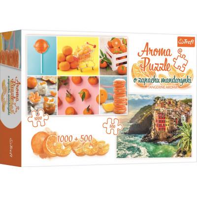 TREFL Puzzle Vůně mandarinek 1000 + 500 dílků
