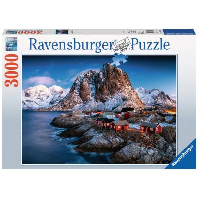 RAVENSBURGER Puzzle Hamnoy, Lofoty 3000 dílků