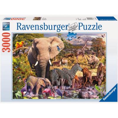 RAVENSBURGER Puzzle Africká zvířata 3000 dílků