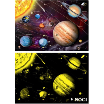 EDUCA Svítící puzzle Sluneční soustava 1000 dílků