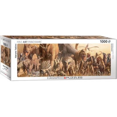 EUROGRAPHICS Panoramatické puzzle Dinosauři 1000 dílků