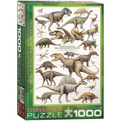 EUROGRAPHICS Puzzle Svět dinosaurů: Křída 1000 dílků