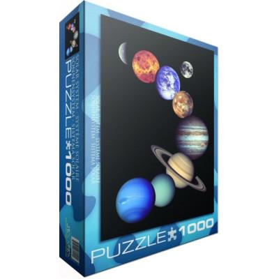 EUROGRAPHICS Puzzle NASA - Sluneční soustava 1000 dílků