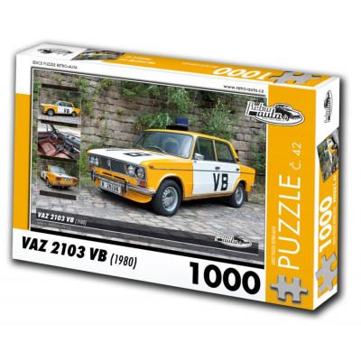 RETRO-AUTA Puzzle č. 42 VAZ 2103 VB (1980) 1000 dílků