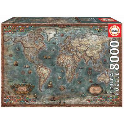 EDUCA Puzzle Historická mapa světa 8000 dílků