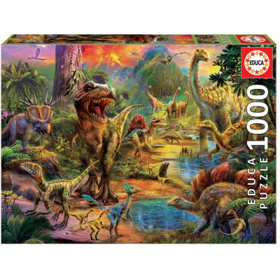 EDUCA Puzzle Území dinosaurů 1000 dílků