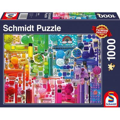 SCHMIDT Puzzle Barvy duhy 1000 dílků