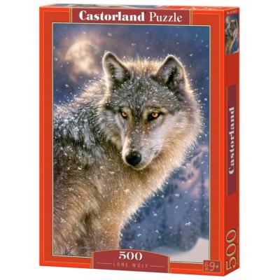 CASTORLAND Puzzle Osamělý vlk 500 dílků