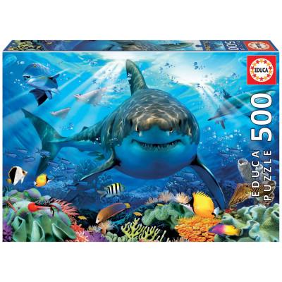 EDUCA Puzzle Bílý žralok 500 dílků
