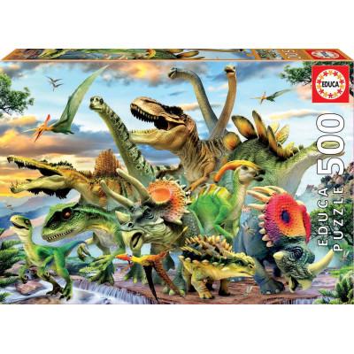 EDUCA Puzzle Dinosauři 500 dílků