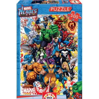 EDUCA Puzzle Hrdinové Marvel 500 dílků