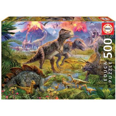 EDUCA Puzzle Setkání dinosaurů 500 dílků