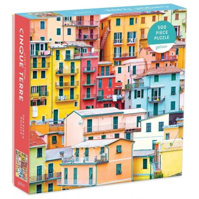GALISON Čtvercové puzzle Pozdrav z Cinque Terre 500 dílků