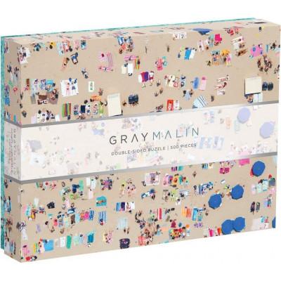 GALISON Oboustranné puzzle Gray Malin: Pláž 500 dílků