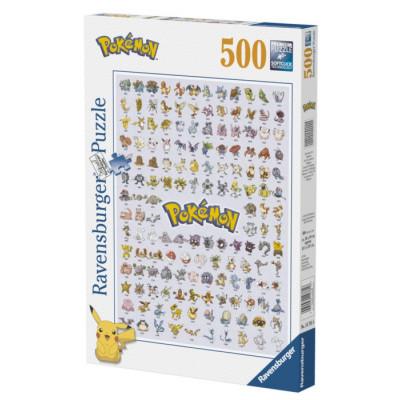RAVENSBURGER Puzzle Pokémon: Prvních 151 druhů 500 dílků