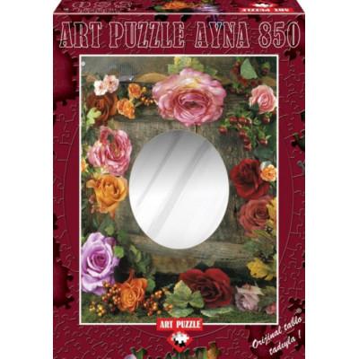 ART PUZZLE Puzzle se zrcadlem Krása růží 850 dílků