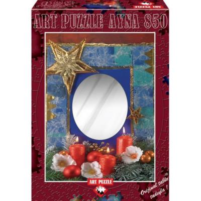 ART PUZZLE Puzzle se zrcadlem Štěstí pod svíčkami 850 dílků