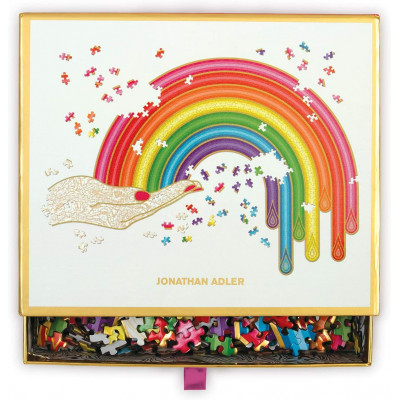 GALISON Tvarové metalické puzzle Rainbow Hand 750 dílků