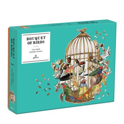 GALISON Tvarové puzzle Ptačí klec 750 dílků