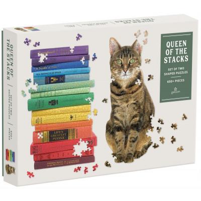 GALISON Tvarové puzzle Queen of the Stacks 2v1 650 dílků