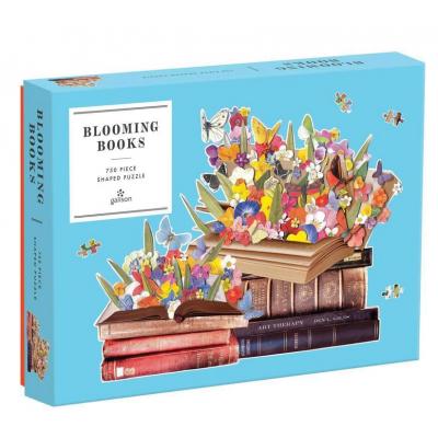 GALISON Tvarové puzzle Rozkvetlé knihy 750 dílků
