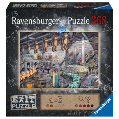 RAVENSBURGER Únikové EXIT puzzle Továrna na hračky 368 dílků