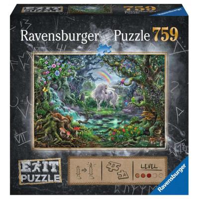 RAVENSBURGER Únikové EXIT puzzle Jednorožec 759 dílků