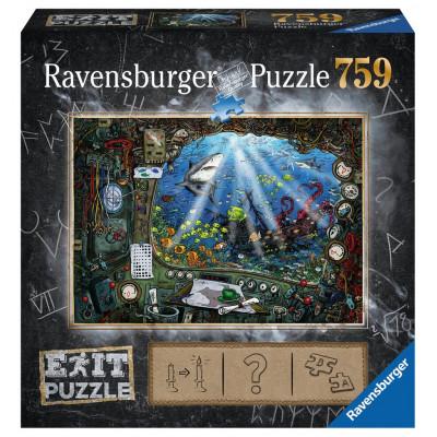 RAVENSBURGER Únikové EXIT puzzle V ponorce 759 dílků