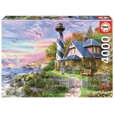 EDUCA Puzzle Maják v zátoce Rock Bay 4000 dílků