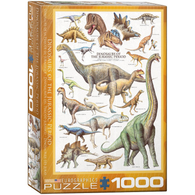 EUROGRAPHICS Puzzle Dinosauři z jurského období 1000 dílků