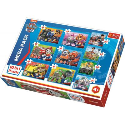 Trefl Puzzle Paw Patrol Tlapková Patrola 10v1 20, 35, 48 dílků