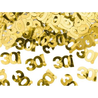 Narozeninové konfety - 30 - zlaté