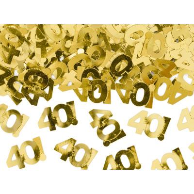 Narozeninové konfety - 40 - zlaté