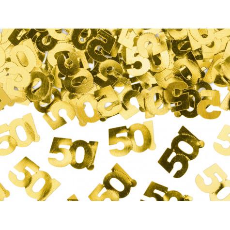 Narozeninové konfety - 50 - zlaté