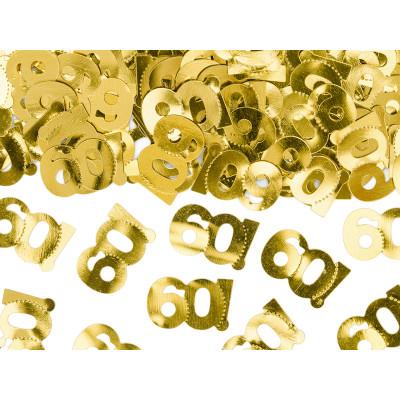 Narozeninové konfety - 60 - zlaté