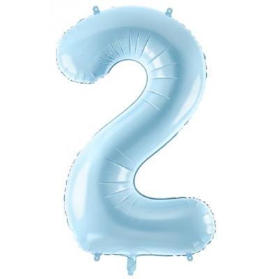 Velký fóliový balónek 86 cm modrý - číslo 2