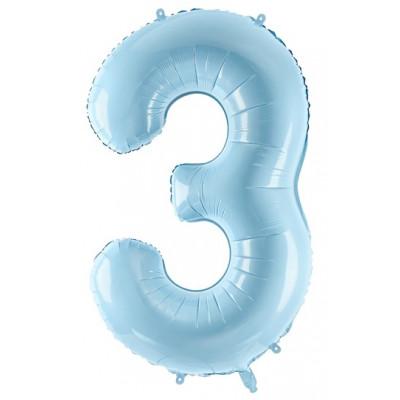Velký fóliový balónek 86 cm modrý - číslo 3