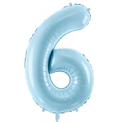 Velký fóliový balónek 86 cm modrý - číslo 6