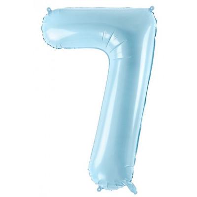 Velký fóliový balónek 86 cm modrý - číslo 7