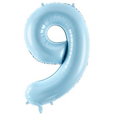 Velký fóliový balónek 86 cm modrý - číslo 9