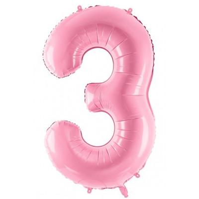 Velký fóliový balónek 86 cm růžový - číslo 3