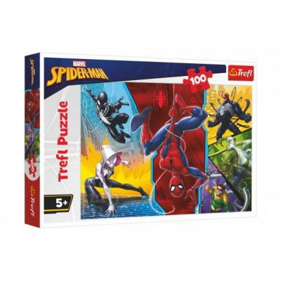 Trefl Puzzle Spiderman Marvel - Vzhůru nohama 100 dílků