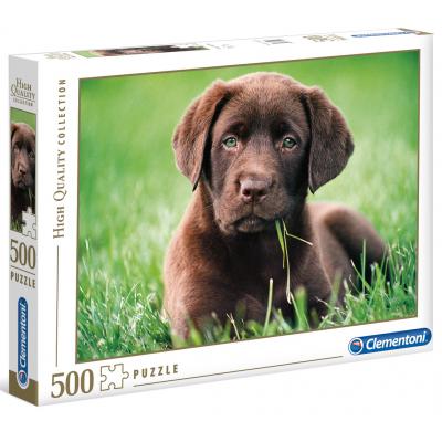 CLEMENTONI Puzzle Čokoládové štěně 500 dílků