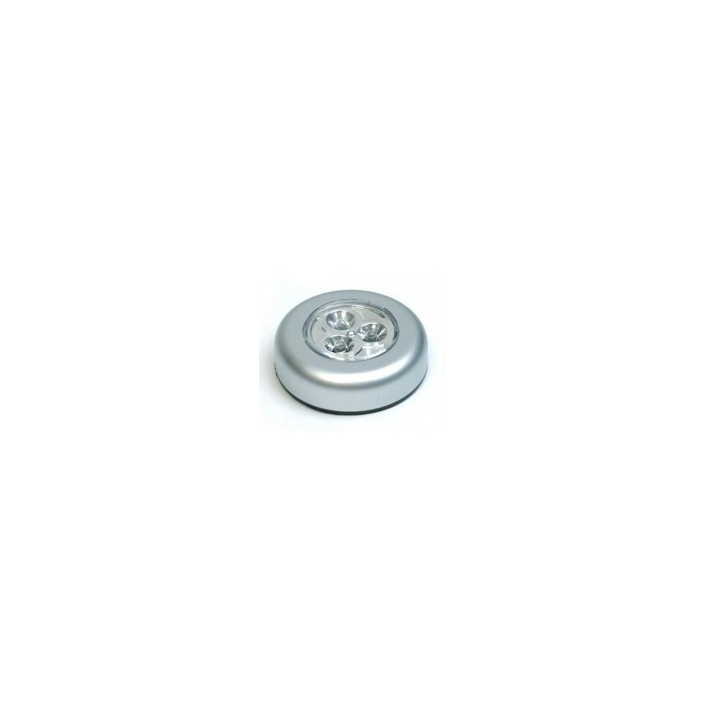 Samolepící lampička 3 LED - stříbrná