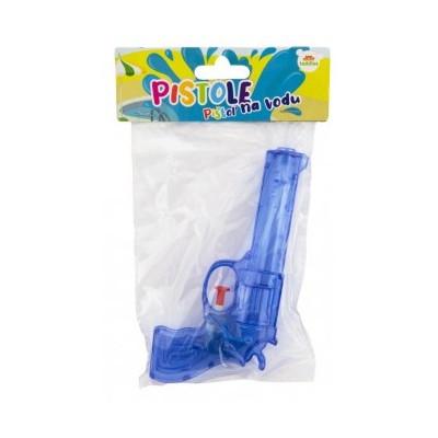 Vodní pistole plast 17cm - modrá